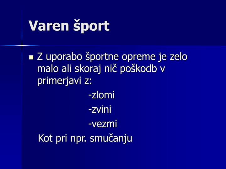 Varen šport