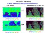 topex waveform contamination evidence