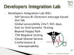 developers integration lab