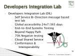 developers integration lab