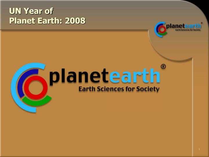 un year of planet earth 2008 n.