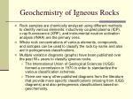 geochemistry of igneous rocks