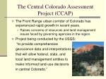 the central colorado assessment project ccap