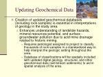 updating geochemical data