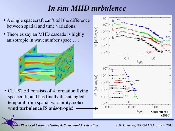 In situ MHD turbulence