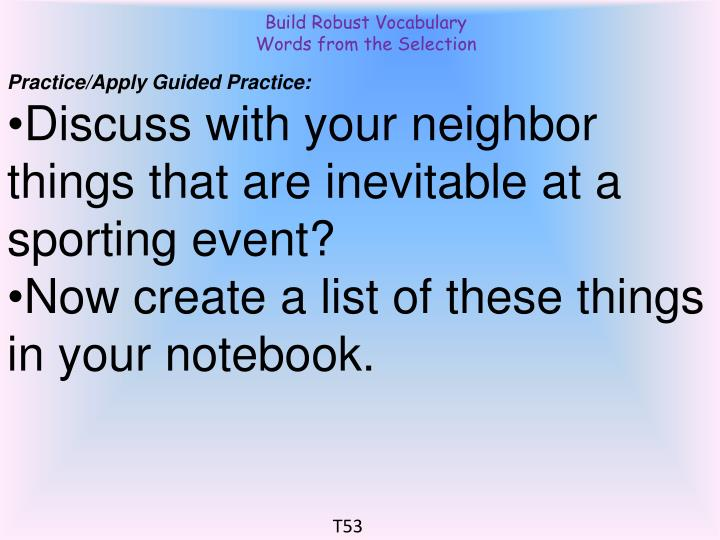 Build Robust Vocabulary