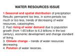 water resources issue