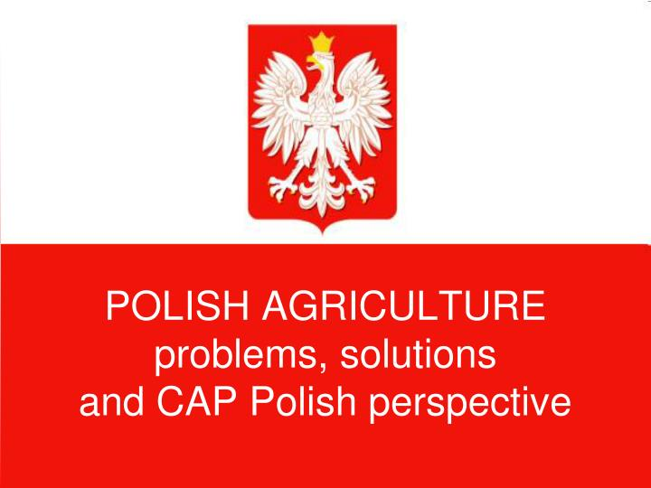 polish agriculture problems solutions and cap polish perspective n.