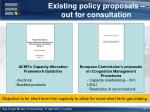 existing policy proposals out for consultation