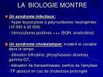 la biologie montre