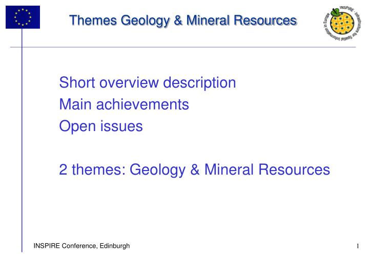 themes geology mineral resources n.
