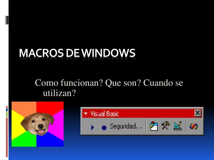 macros de windows n.
