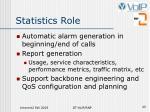statistics role