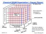 classical dram organization square planes