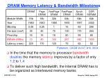 dram memory latency bandwidth milestones