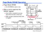 page mode dram operation