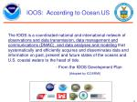 ioos according to ocean us