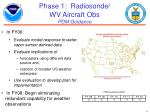 phase 1 radiosonde wv aircraft obs pdm guidance
