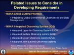 related issues to consider in developing requirements