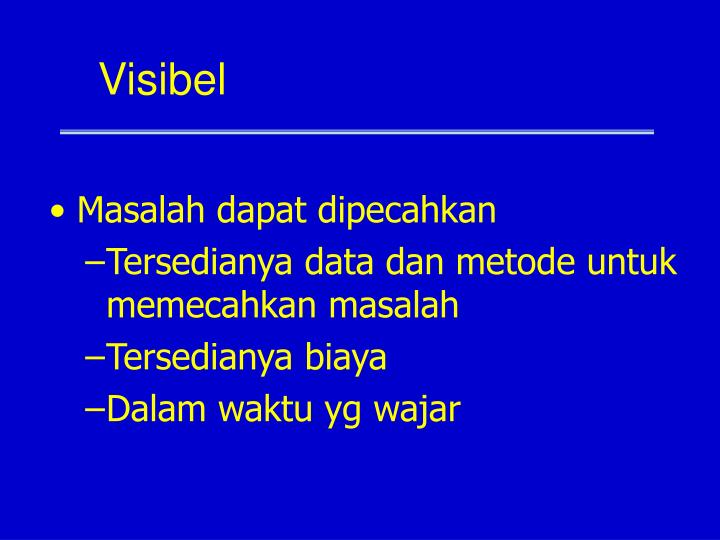 Visibel