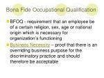 bona fide occupational qualification