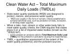 clean water act total maximum daily loads tmdls