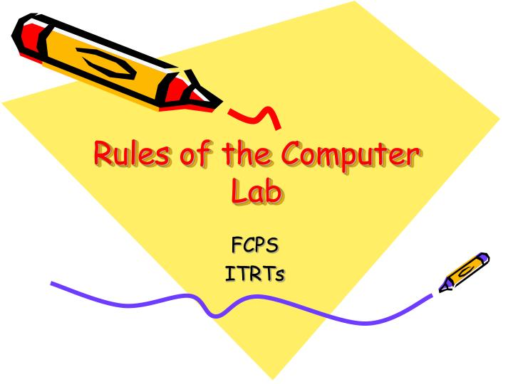 rules of the computer lab n.