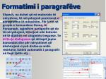 formatimi i paragraf ve