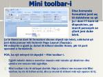 mini toolbar i