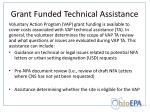 grant funded technical assistance