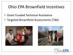 ohio epa brownfield incentives