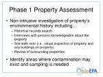 phase 1 property assessment