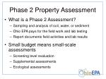 phase 2 property assessment