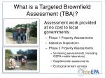 what is a targeted brownfield assessment tba