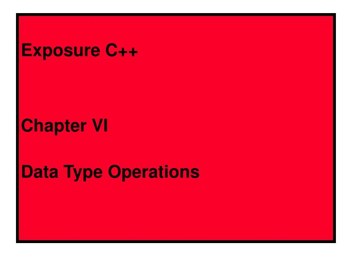 exposure c chapter vi data type operations n.