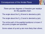 consequences of the amide plane