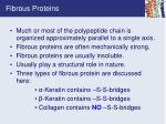 fibrous proteins