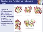 structure and function are not always linked1