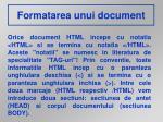 formatarea unui document