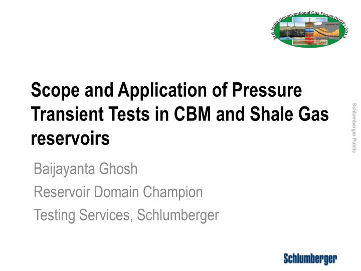 scope and application of pressure transient tests in cbm and shale gas reservoirs n.