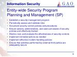 entity wide security program planning and management sp