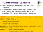 confounding variables