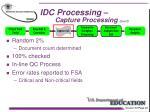 idc processing capture processing con t11