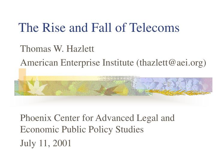 the rise and fall of telecoms n.