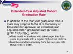 extended year adjusted cohort graduation rate