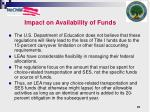 impact on availability of funds