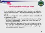 transitional graduation rate