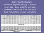 segments of contractions