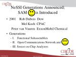 nessi generations announced sam is introduced