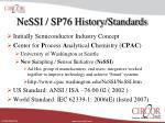 nessi sp76 history standards